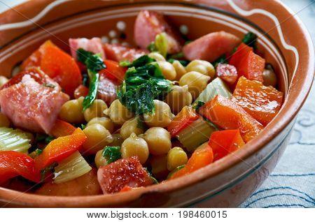 Chickpea Chorizo And Spinach Stew