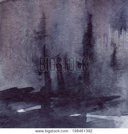 Watercolor navy blue black grey gray rain wet asphalt texture background
