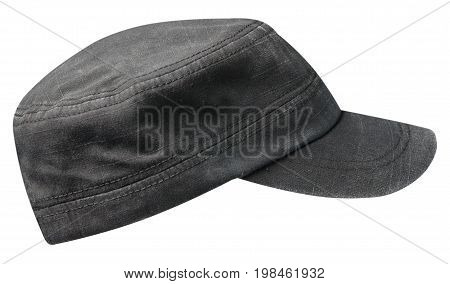 Sports Cap Isolated On A White Background .black Cap