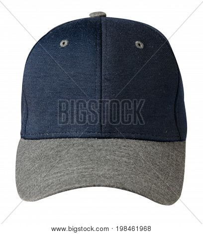 Cap Isolated On White Background.blue  Cap With Gray Visor