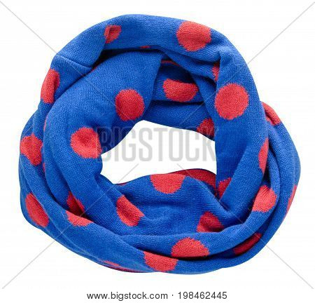 Scarf Isolated On White Background.scarf  Top View .blue Scarf In Red Circle