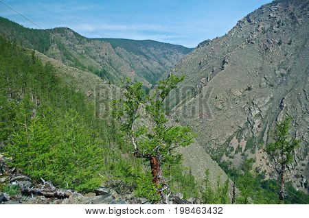 Mountain Peaks At Canyon Kurma