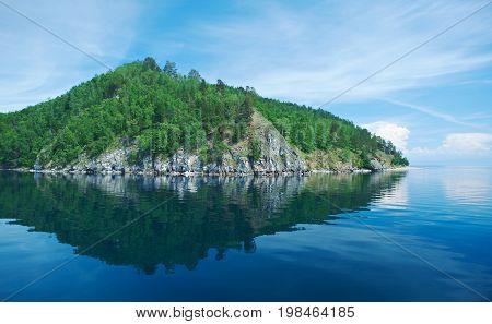circum-baikal railroad. Lake baikal.  Russia summer travel
