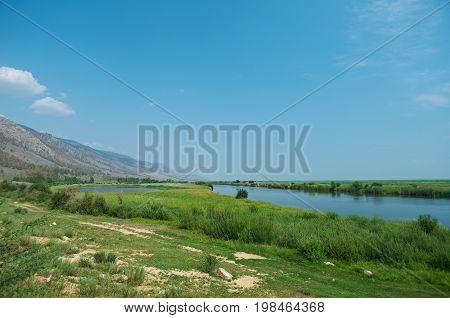 Barguzin RiverBarguzin valley Buryatia Russia.  Russia summer travel