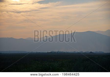Sunset On A Background Of The Barguzin Range