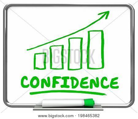 Confidence Self Assured Confident Arrow Rising Trend 3d Illustration