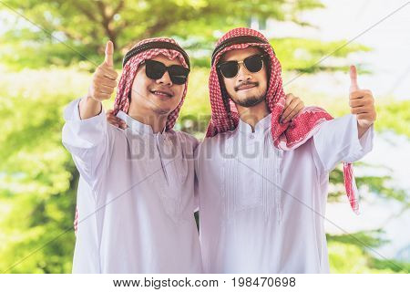 Happy Arab Man Thumbs Up