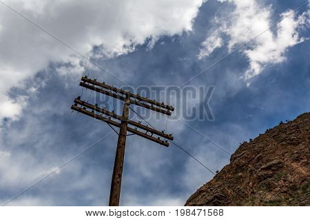 Utility poles were first used in the mid-19th century with telegraph systems starting with Samuel Morse