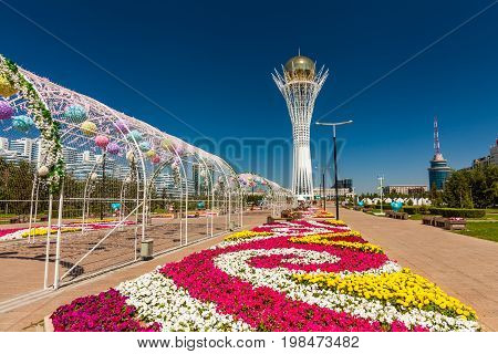 AA, Nurzhol Bulvar in Astana, Kazakhstan