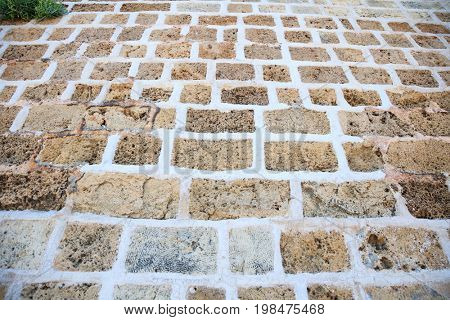 Exterior stone paved street background
