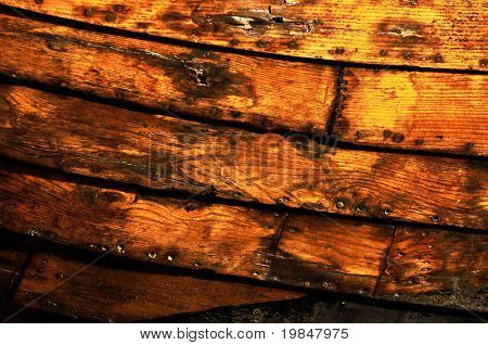 Hull boat detail, wooden texture
