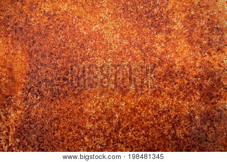 Brown metal rust texture background in  soft focus ,Steel Rust with  copy space.