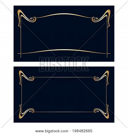 Vector Art Nouveau Invitation Cards.