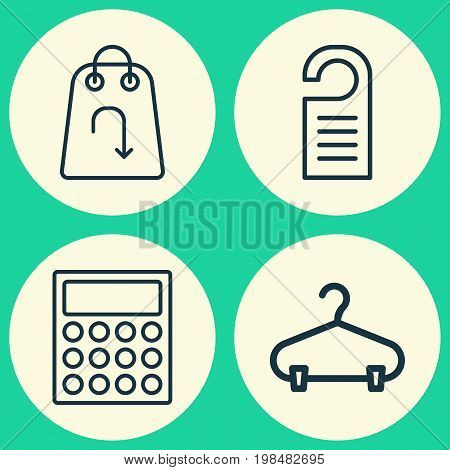 E-Commerce Icons Set. Collection Of Calculator, Peg, Refund And Other Elements