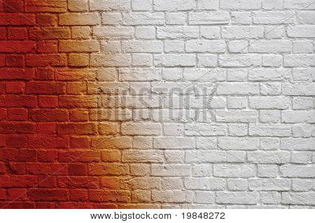 Gradient brick wall