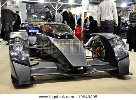 LONDON, UK - NOVEMBER 7: A Caparo T1 at the MPH motorshow, November 7, 2010 in London, United Kingdom