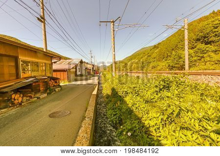 Narai  is a  small town in Nagano Prefecture Japan ,The old  town provided a pleasant walk through about a kilometre of well preserved buildings.