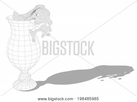 hurricane glass isolated on a white background