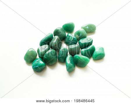 Tumbled Aventurine Stones For Crystal Therapy Treatments And Reiki Detail