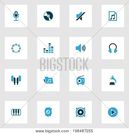 Multimedia Colorful Icons Set. Collection Of Piano, Music Lover, Speaker And Other Elements