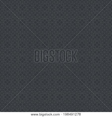 Vector seamless pattern. Abstract halftone background. Modern stylish texture. Repeating grid with intersecting hexagons and rhombuses with decreasing contour thickness. Gradation from bigger to smaller.