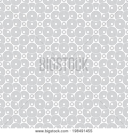 Vector art deco seamless pattern. Modern stylish texture in the form of zigzags with regularly repeating geometrical shapes circles semicircle arcs and dots.