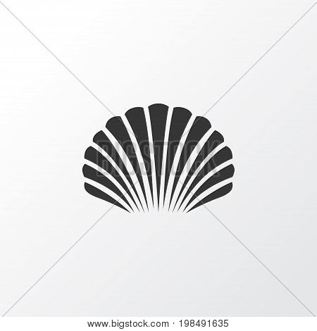 Premium Quality Isolated Conch Element In Trendy Style.  Shell Icon Symbol.