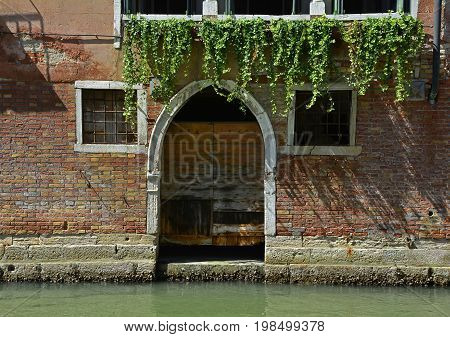 A residential building on one of the canals in the Dorsoduro quarter of Venice