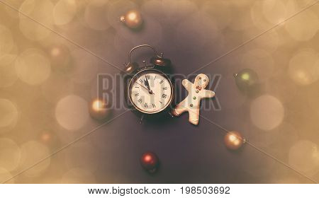 Alarm Clock And Gingerbread Man
