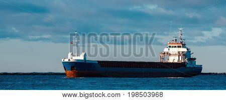 Blue Cargo Ship