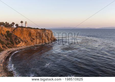 Dusk view of Point Vincente in Rancho Palos Verdes, California.