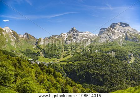 Gourette is a winter sports resort in the French Pyrenees.