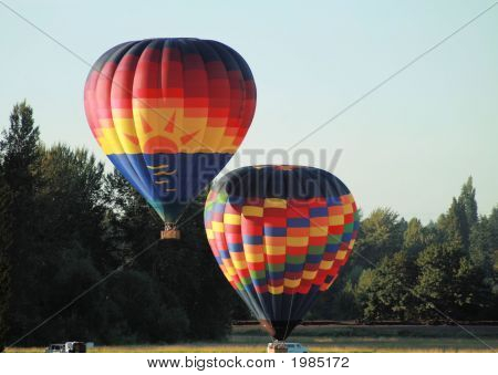 Hot Air Balloon Lift Off