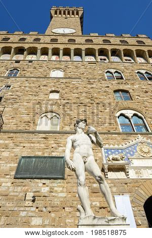 Palazzo Vecchio, The Town Hall Of Florence On Italy.