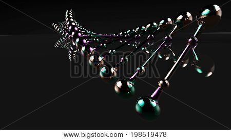 3D Rendering. Model Of The Dna Molecule.