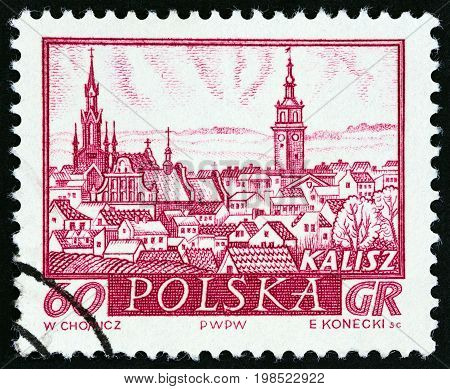 POLAND - CIRCA 1960: A stamp printed in Poland from the