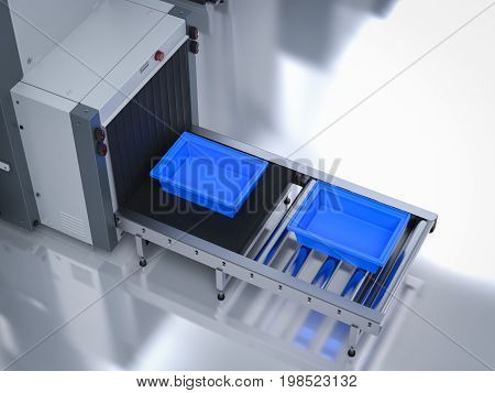 Empty Trays On Scanner Machine