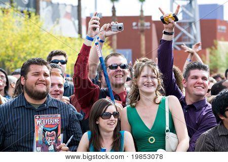 TEMPE, AZ - APRIL 27: Fans attend the premiere of X-Men Origins: Wolverine on April 27, 2009 in Tempe, AZ.