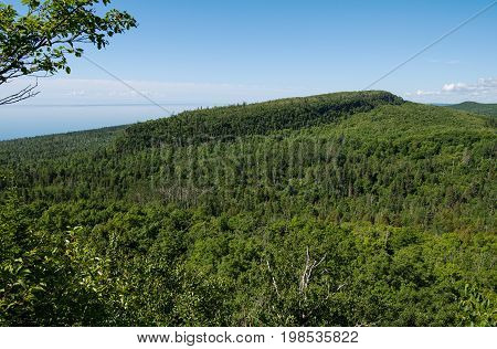 Lake Superior's north shore as seen from Oberg Mountain near Tofte Minnesota USA