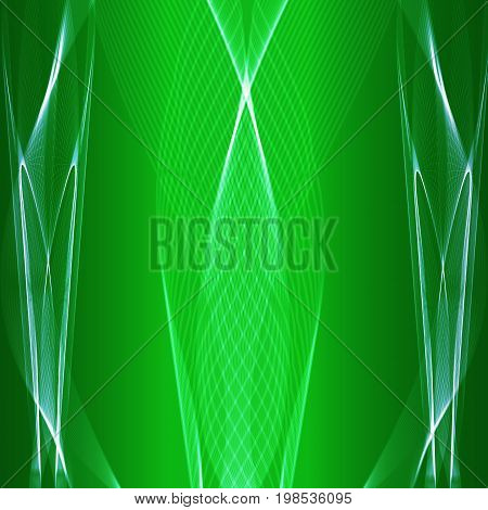 Abstract green vector background with light blue stripes