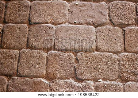 Fragment of the masonry of the Red Tower in Alanya (Turkey), which can be used in graphic design.