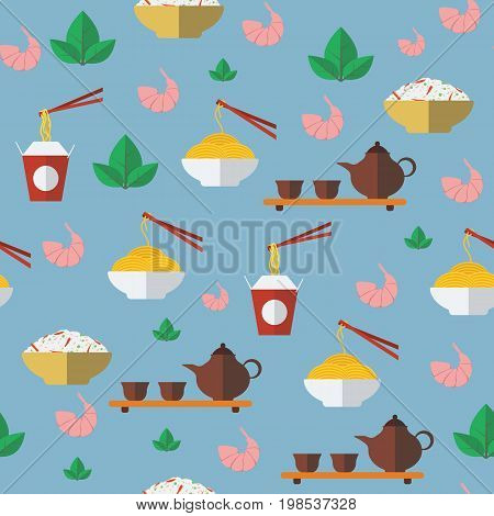 Chinese food. Seamless pattern. Vector illustration EPS10.