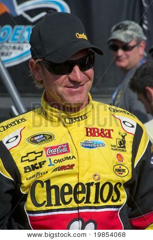 AVONDALE, AZ - APRIL 10: NASCAR driver Clint Bowyer makes an appearance before the start of the Subway Fresh Fit 600 on April 10, 2010 in Avondale, AZ.