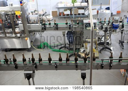 Bottling Plant At A Winery