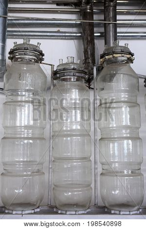 Bottles On Wall Background