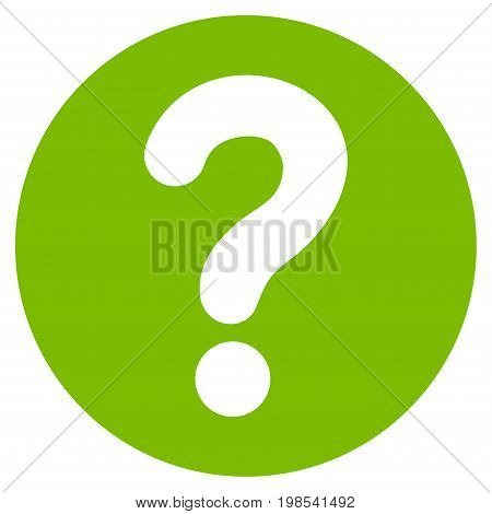Query vector icon. Flat eco green symbol. Pictogram is isolated on a white background. Designed for web and software interfaces.