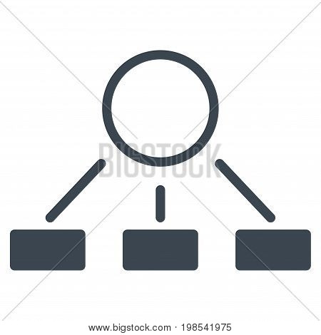 Hierarchy vector icon. Flat smooth blue symbol. Pictogram is isolated on a white background. Designed for web and software interfaces.