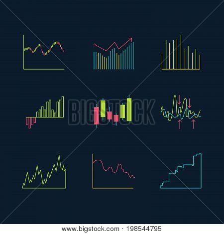 Trading Graphics Vector Icon Set.