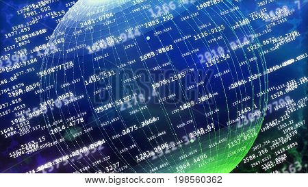 Global Cyberspace Covered With Decimal Digits