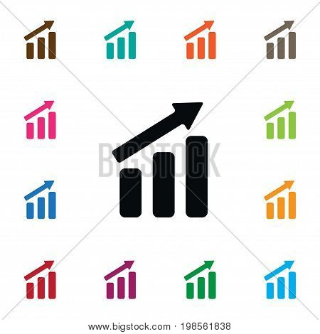 Progress Vector Element Can Be Used For Progress, Increase, Arrow Design Concept.  Isolated Increase Icon.